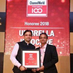 Umbrella recognized as ChannelWorld Premier 100, 2016